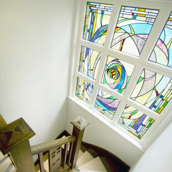 Mackintosh inspired staircase window