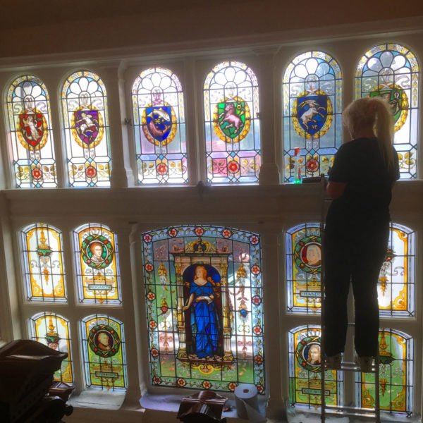 Restoration of historic stained glass